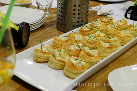shrimp vol au vent