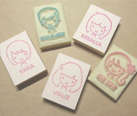 Lovesprouts customised stamps