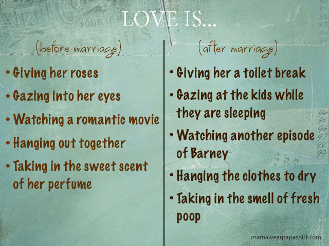 Love. Before and after marriage