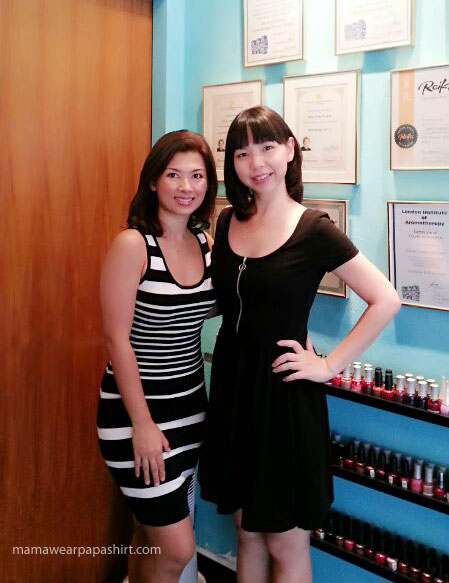 With the beautiful Val at her shop