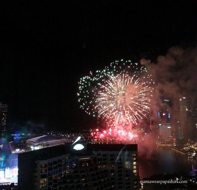 National Day Parade fireworks!