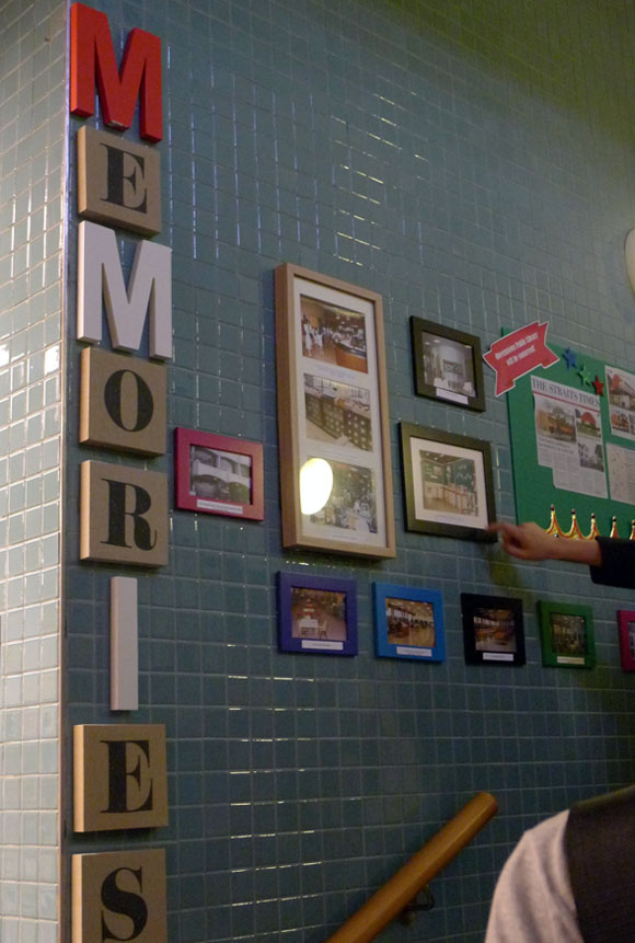 Queenstown library wall of memories